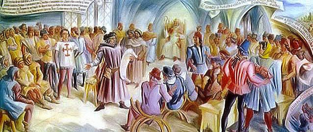 Mestre de Avis, aclamado El Rey D.João I, a 6 de Abril de 1385